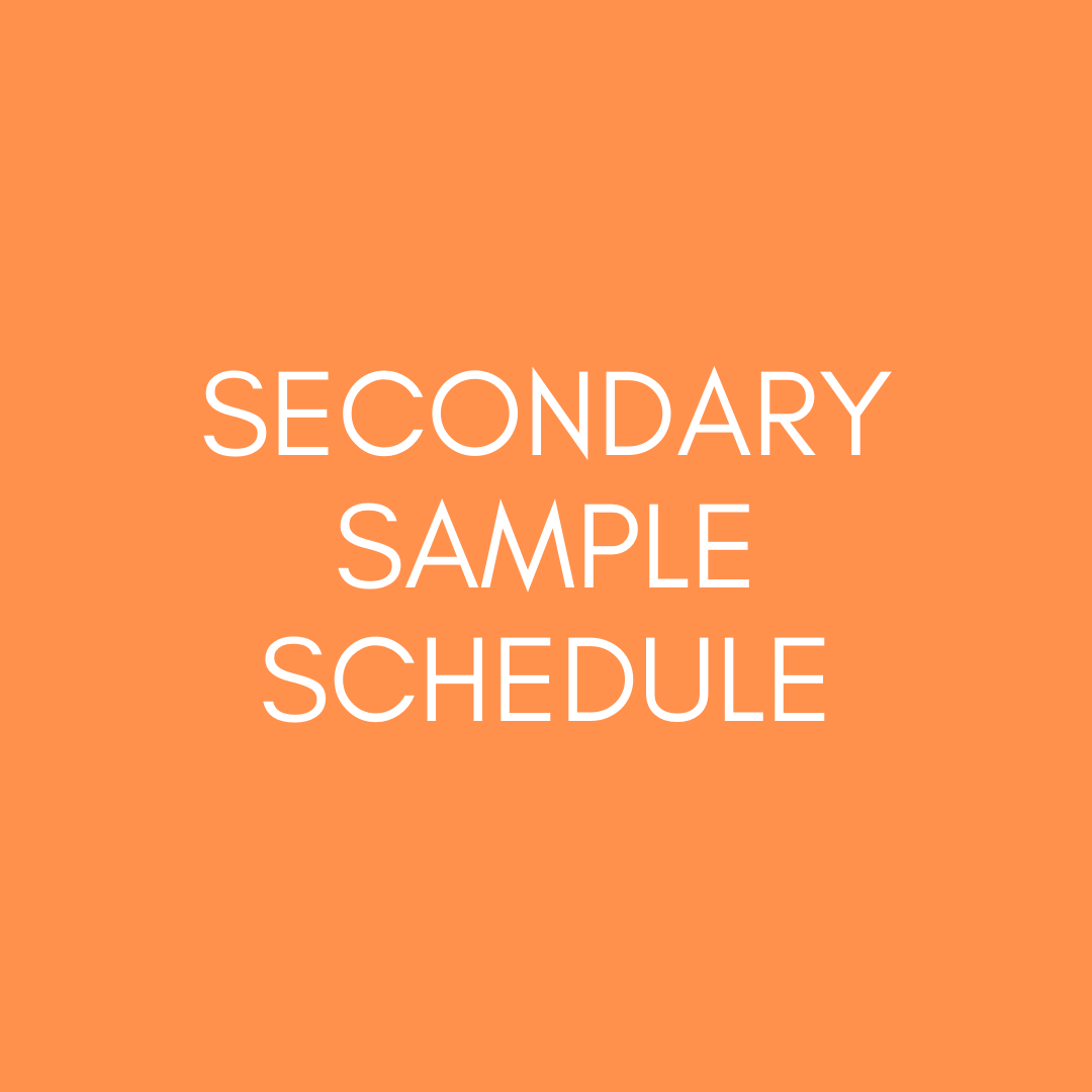 Secondary sample schedule