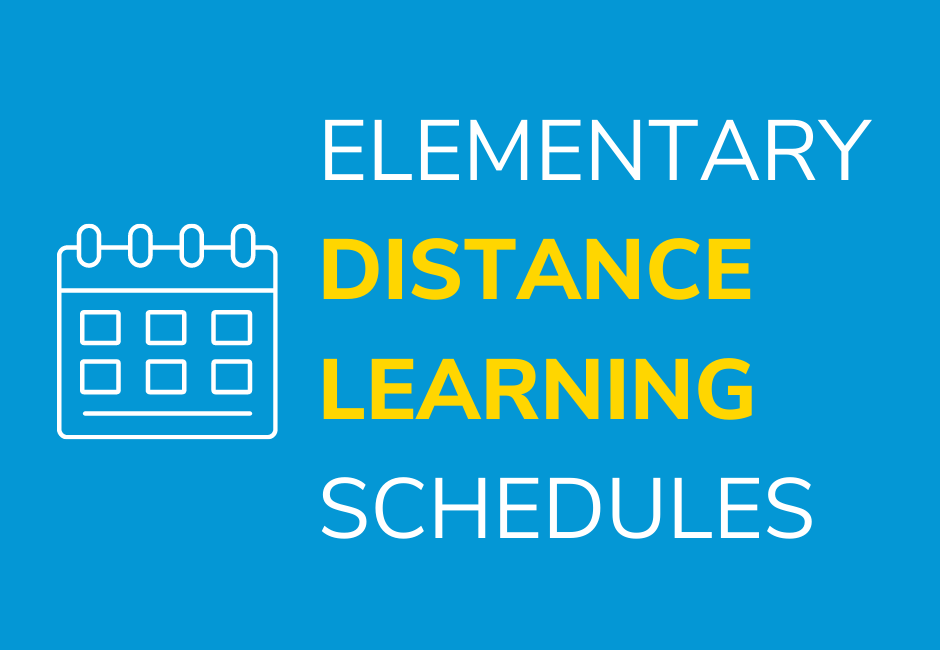 Elementary Distance Learning Schedules