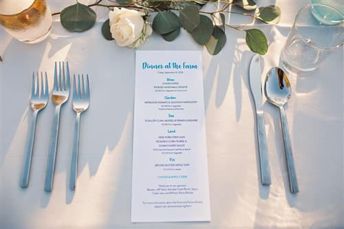 individual table setting