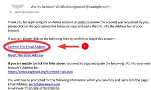 Email verification example