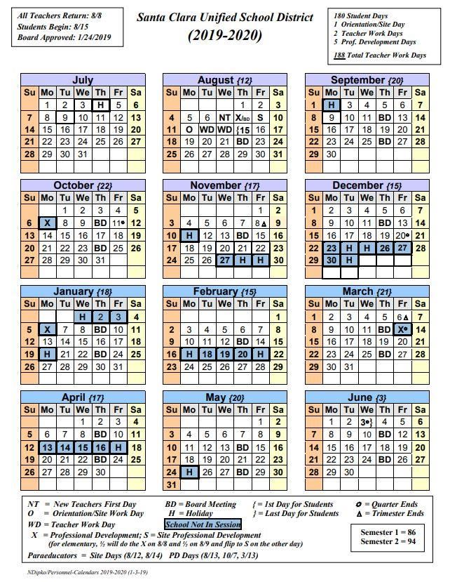 Orange County School Calendar 2016 2020 2019 2020 School Year Calendar Now Available