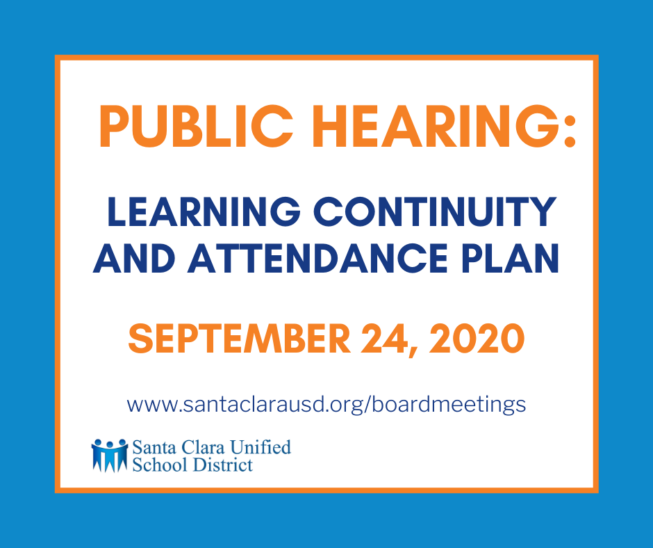 Public Hearing: Learning Continuity and Attendance Plan