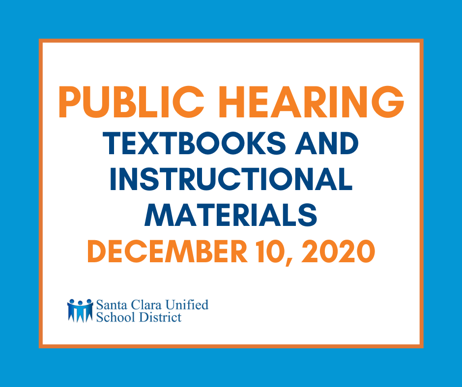 Public Hearing Textbooks and Instructional Materials December 10, 2020