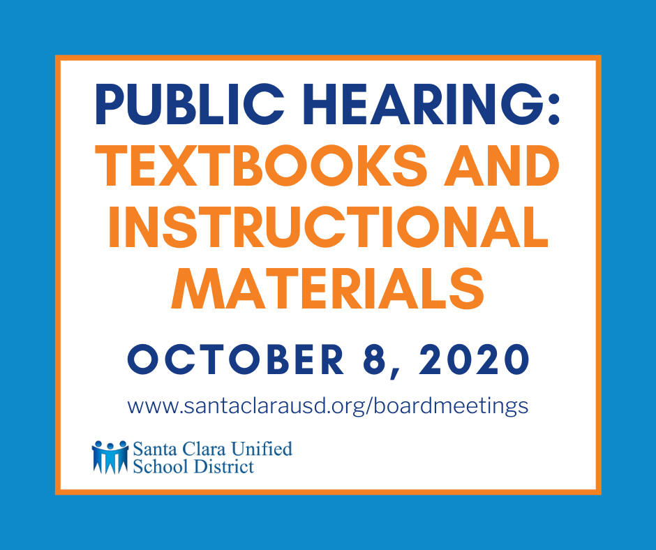 Public Hearing: Textbook and Instructional Materials October 8 2020