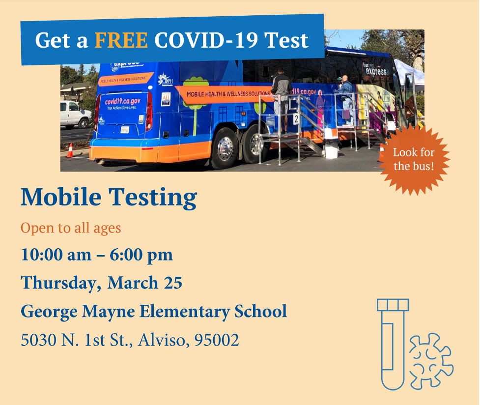 Free Covid testing open to all ages at Mayne Elementary School on March 25 from 10am-6pm