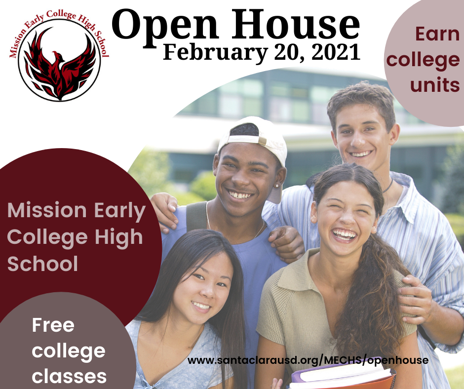 Mission Early College High School Open House Feb 20, Earn college units, free college classes