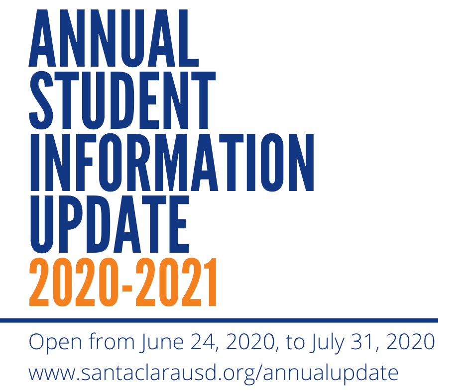 Annual Student Information Update 2020-2021