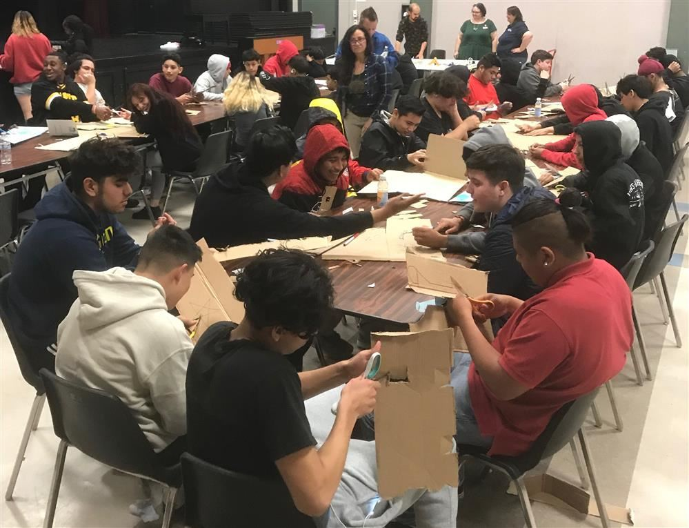 New Valley High School students work on arts and craft projects