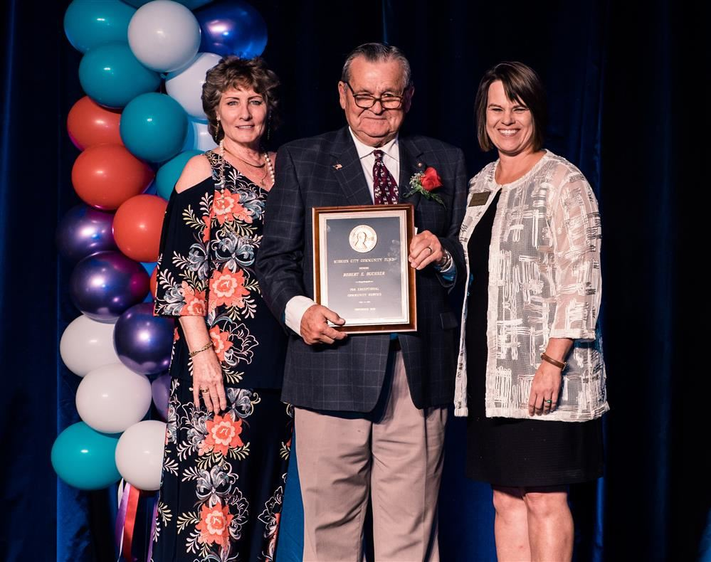 Bob Buchser receives Austen Warburton Community Service Award