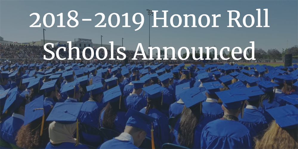 2018-2019 Honor Roll Schools Announced