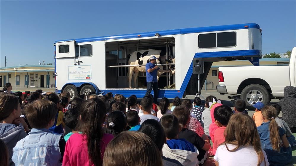 Mobile Dairy Classroom visits Hughes