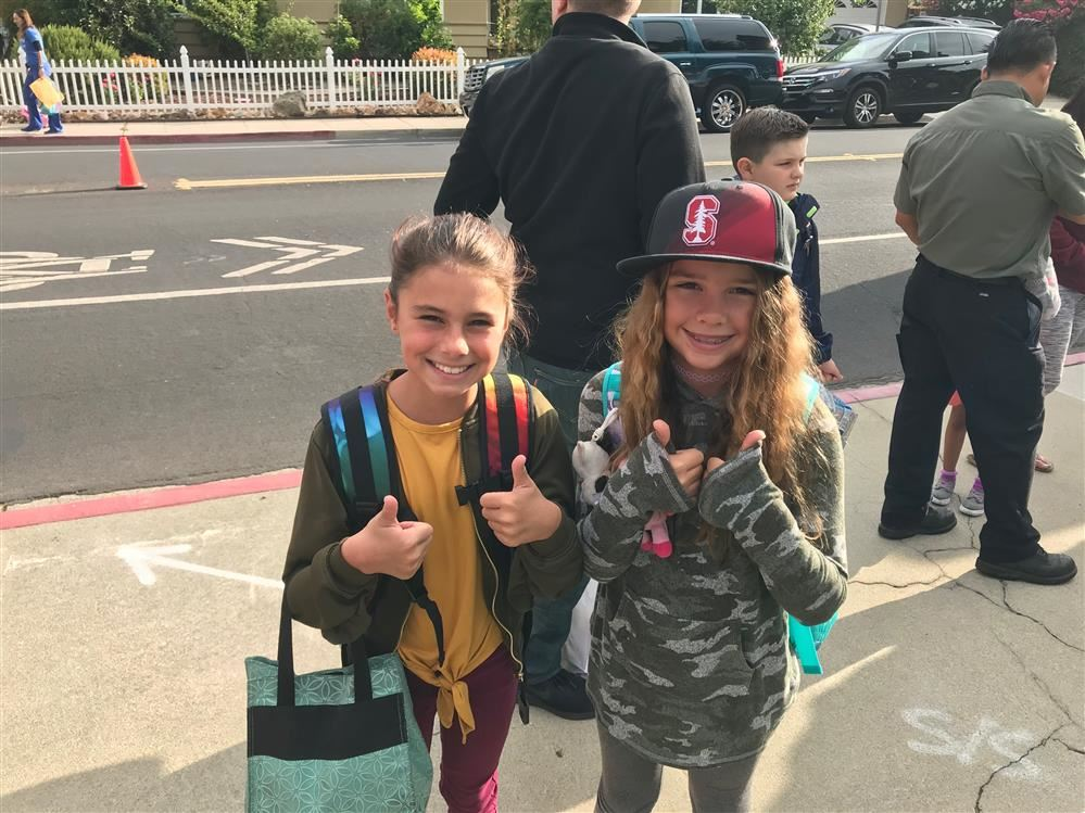 Sutter students celebrate their first day back