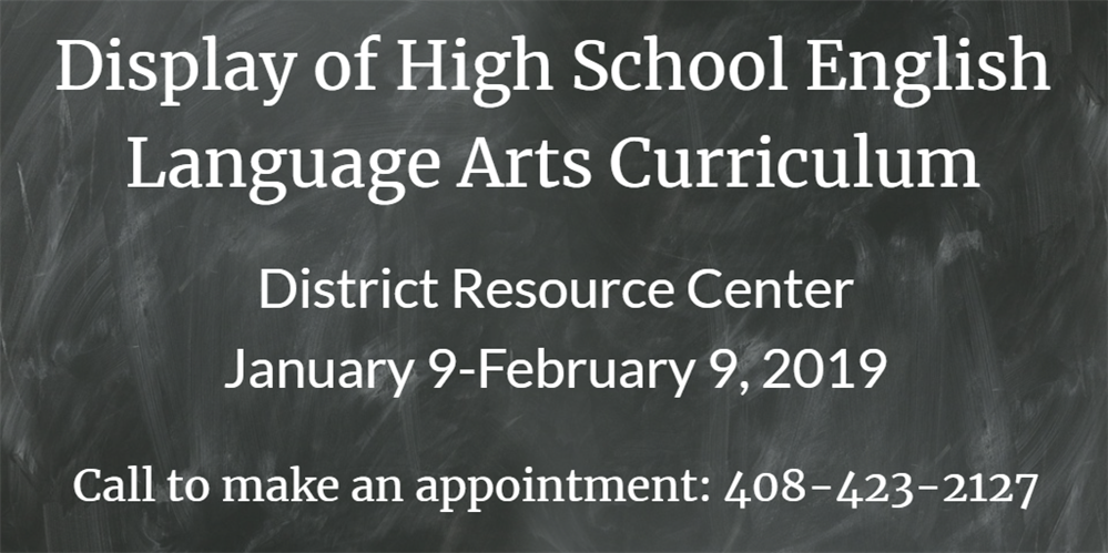 Display of High School English Language Arts Curriculum