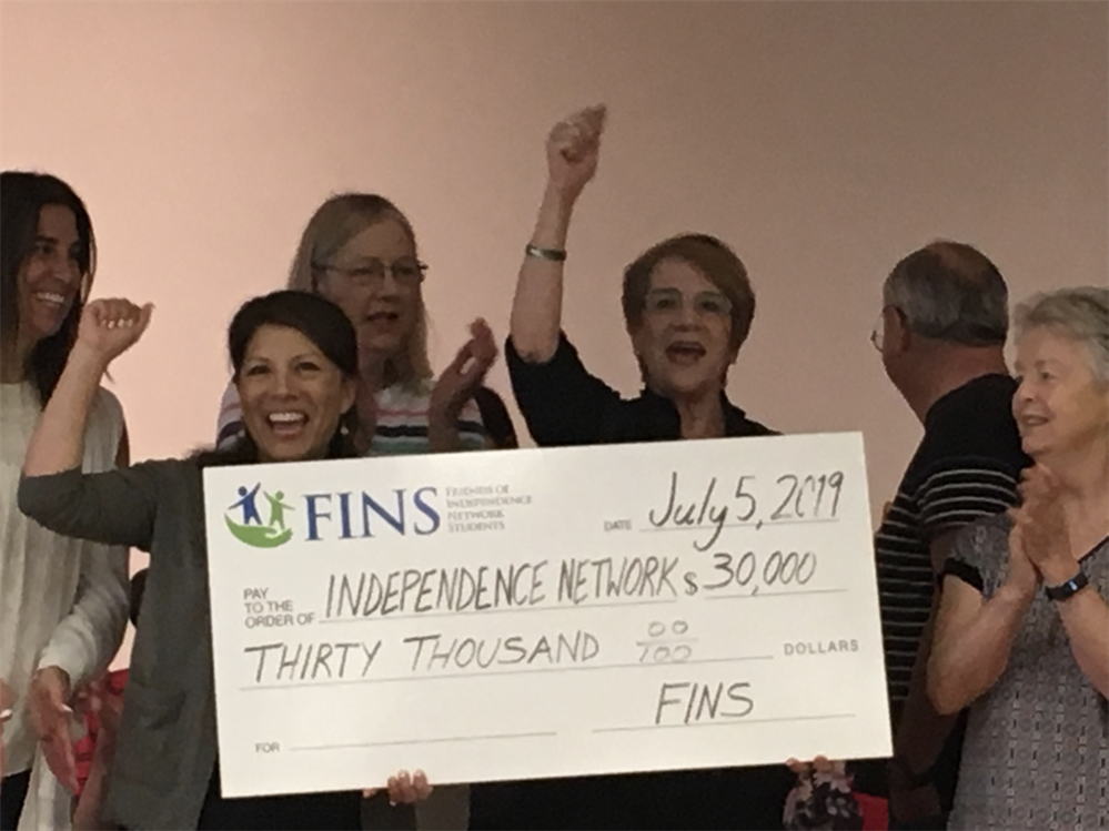 FINS check donation