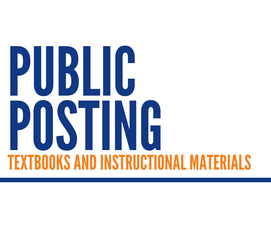 Public Posting Textbooks and Instructional Materials