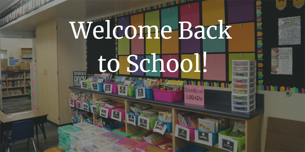 Welcome Back from Superintendent Dr. Kemp