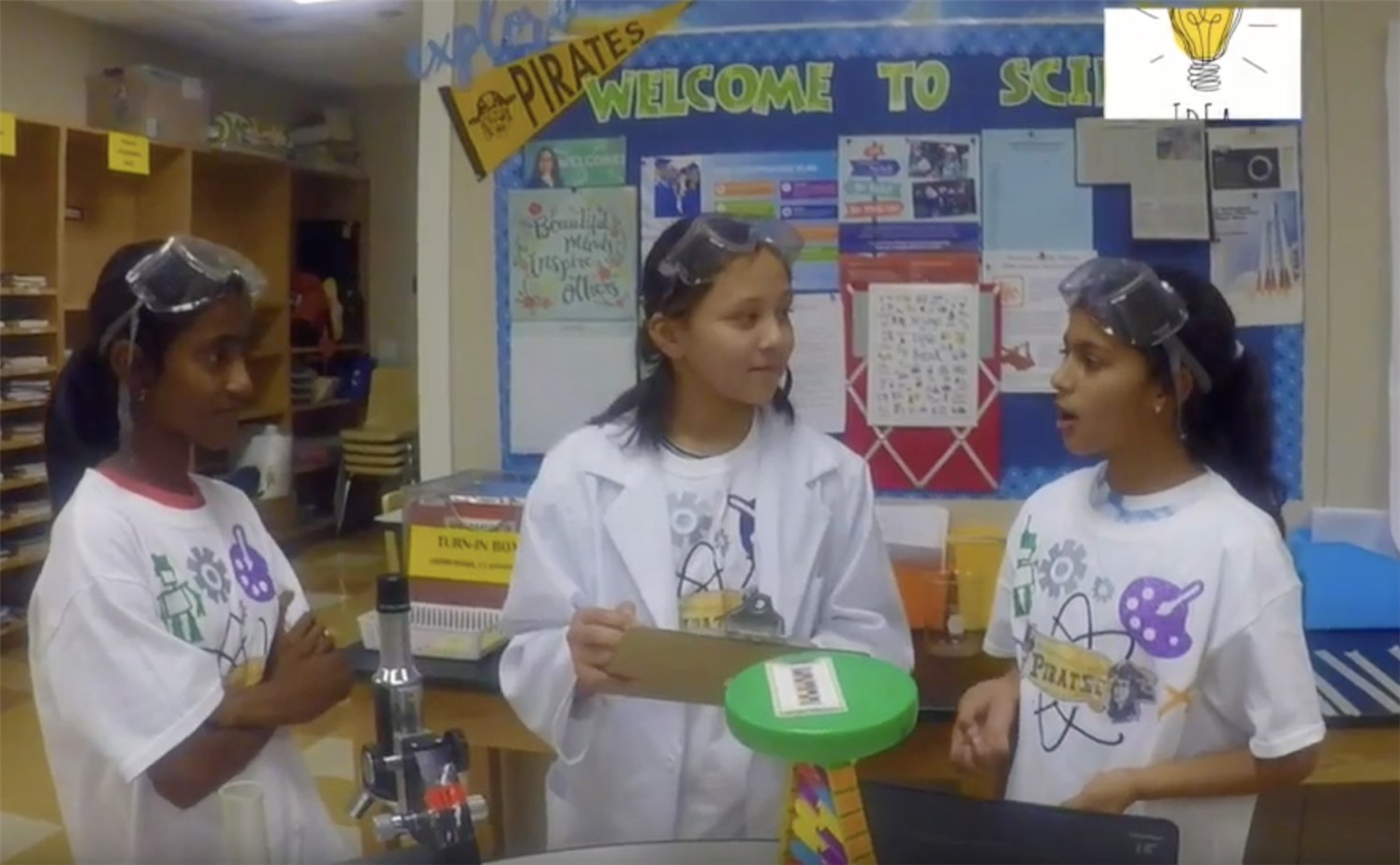 Peterson students discuss the 2020 STEAM Expo